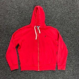 Polo Ralph Lauren Red/Black Zip Up Hoodie XL